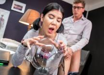Teacher fucks sexy student on desk