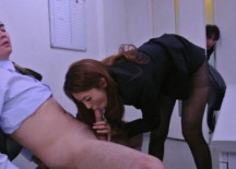 Mai Takizawa sucks off her boss in the office today