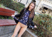 Petite Russian Does Not Want to be a Tourist, She Wants To Try A Threesome!