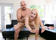 Tiny Blonde Pussy Stretched Out