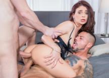 Enjoys DP Threesome For Her Cuckold Husband