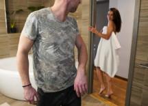 Horny Brunette Teases Boyfriend